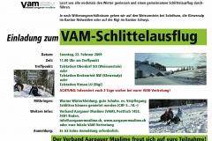 Flyer VAM-Schlittelausflug 2009