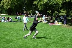 Voller Einsatz beim Federball