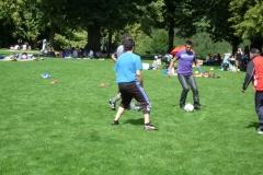 Voller Einsatz beim Fussball