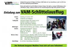 Flyer VAM-Schlittelausflug 2011