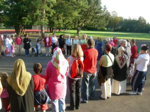 Gemeinsamer Sternmarsch für den Frieden im Zurzibiet, 24. August 2007