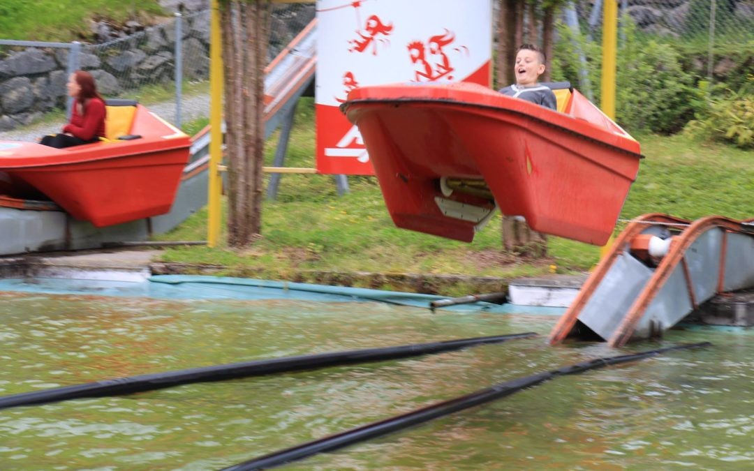Abflug im Boot