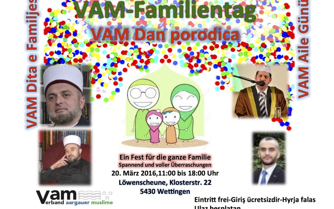 VAM Familientag 2016 Poster