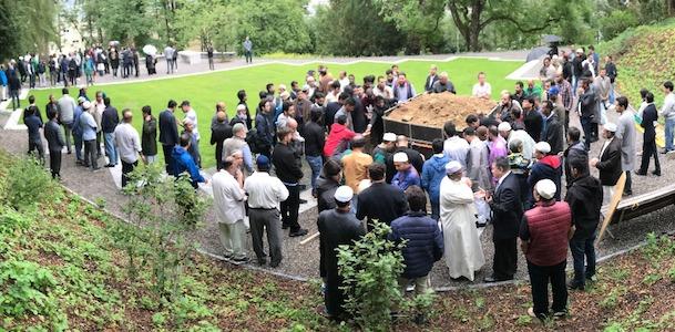 Grabfeld Baden erste Bestattung