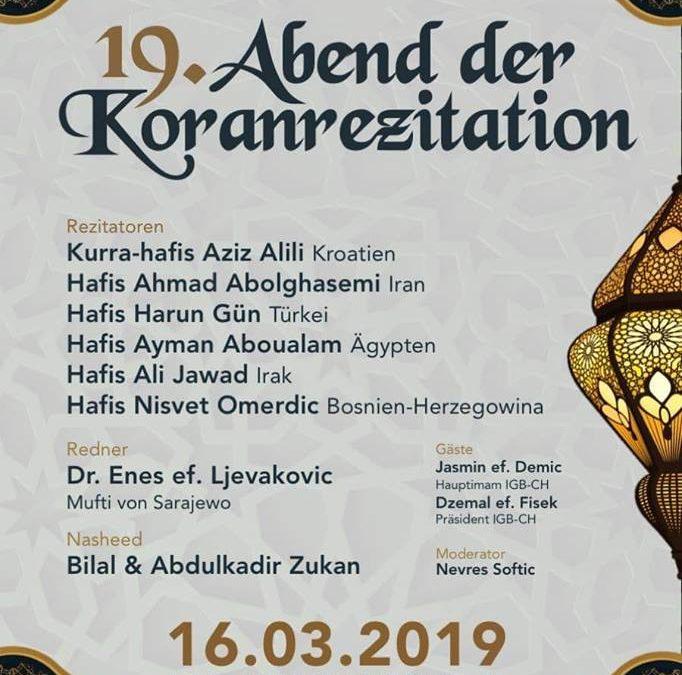 Abend der Koranrezitation (Vecer Kurana) 2019