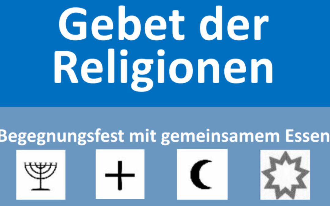 Gebet der Religionen am 15. September 2019
