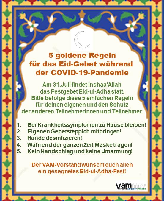 Fünf Goldene Regeln für das bevorstehende Eid-ul-Adha-Festgebet